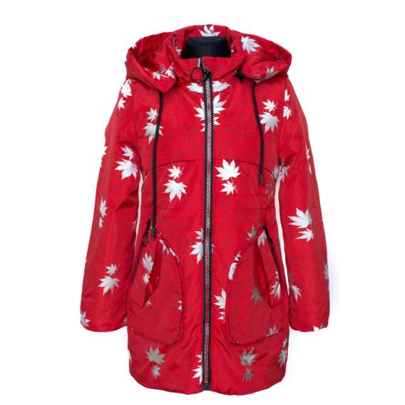 Демисезонная куртка Листья